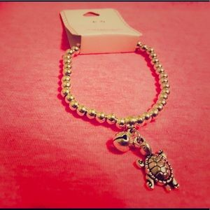 Jewelry - Metal Bead Turtle Charm Bracelet